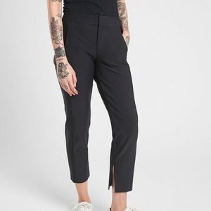 Athleta Black Stellar Crop Trouser pants 4